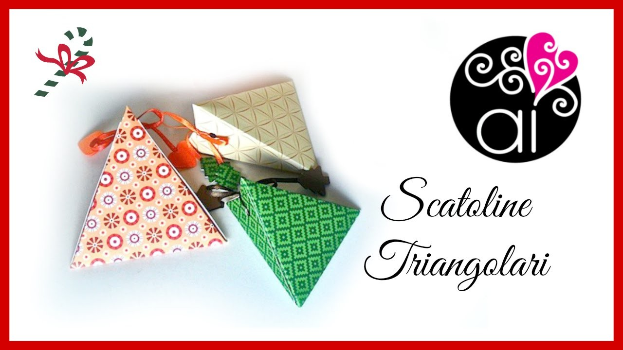 Tutorial | Scatolina triangolare semplice | senza uso di attrezzature professionali | DIY Easy Box