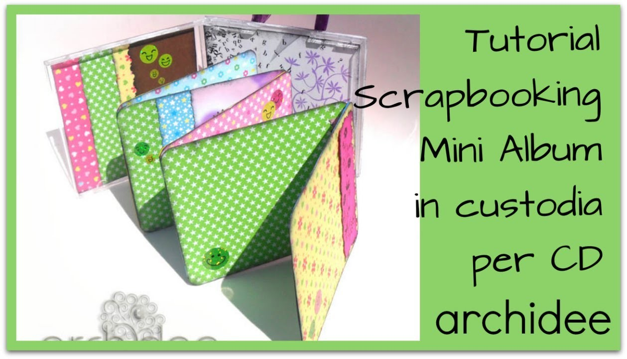 Tutorial | Scrapbooking | Minialbum in una custodia per cd | DIY Altered cd case