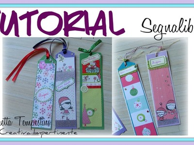 Tutorial Segnalibro Scrap con Cartoncino e Decorazioni varie - DIY Scrapbooking Bookmark Paper Craft
