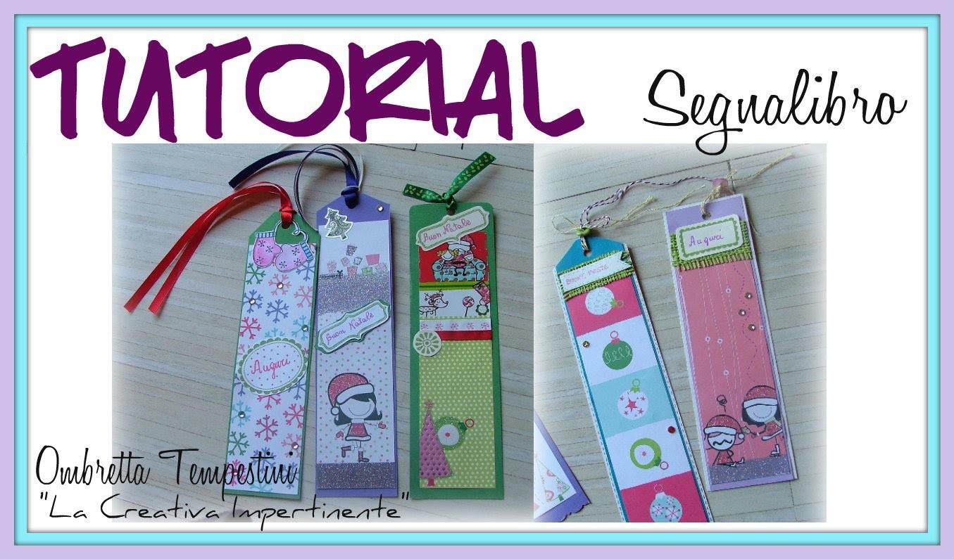 Tutorial Segnalibro Scrap con Cartoncino e Decorazioni varie - DIY Scrapbooking Bookmark Paper Craft
