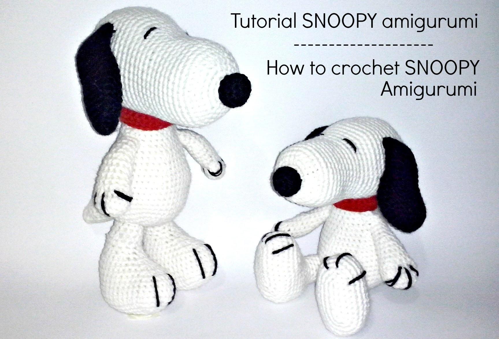 Amigurumi Tutorial Snoopy : Tutorial snoopy amigurumi how to crochet