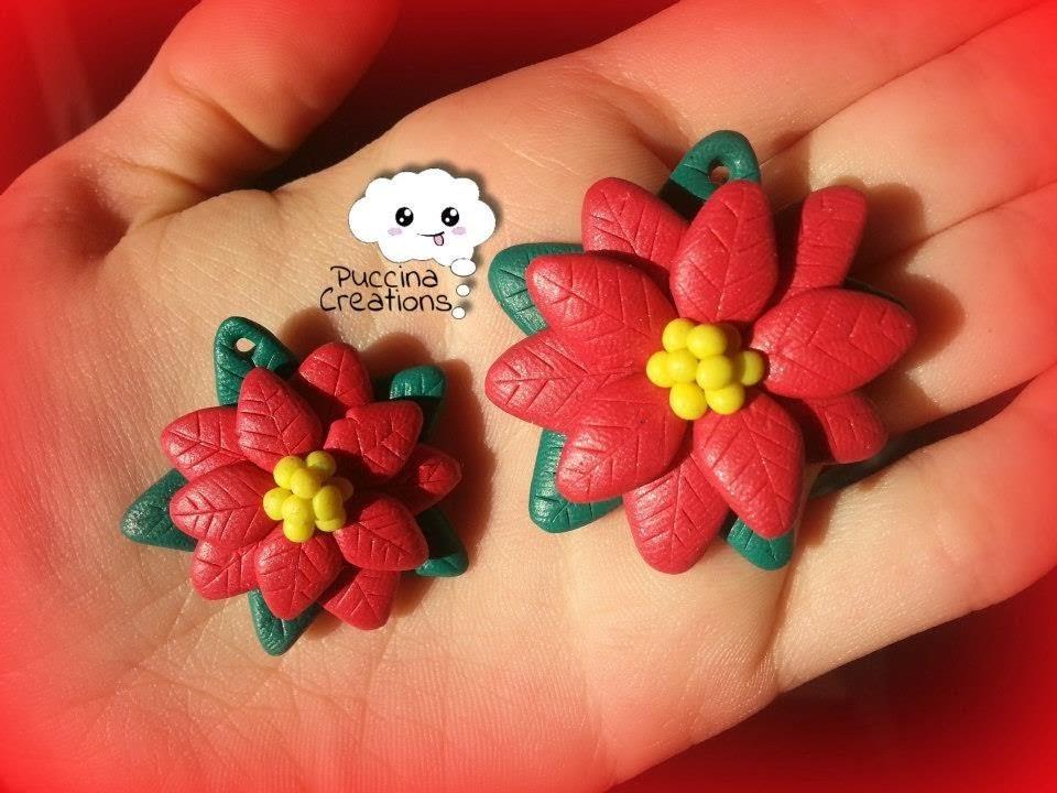 Tutorial Stella di Natale - Christmas Poinsettia (Fimo.Cernit.Premo.Polymer Clay)