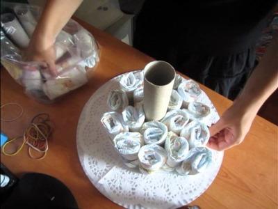 TUTORIAL: TORTA di PANNOLINI. DIAPERS CAKE (-DIY-)