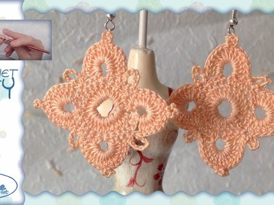Tutorial Uncinetto ❀ Orecchini ❀ (1) [crochet earrings]