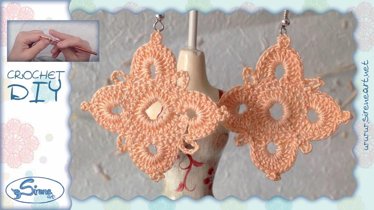 Tutorial Uncinetto ❀ Orecchini ❀ (1) [crochet earrings]