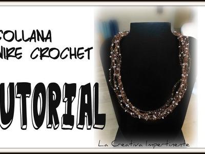 Tutorial Wire Crochet: collana uncinetto e filo metallico | wire crochet necklace