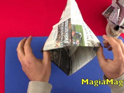 Cappello da muratore tutorial paper hat 折纸