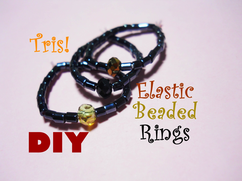 DIY Anelli Elastici con Perline ~ Facilissimi! ☼ Elastic Beaded Rings ~ Super Easy!