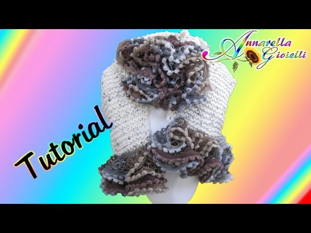 "Tutorial sciarpa ""mista"" a rete | Maglia | How to knit a scarf"