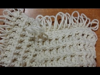 "Tutorial sciarpa unisex all'uncinetto ""tridimensionale"" - crochet scarf - bufanda del ganchillo"