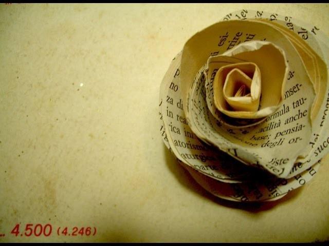 Rose di carta vintage style - come RICICLARE un vecchio libro