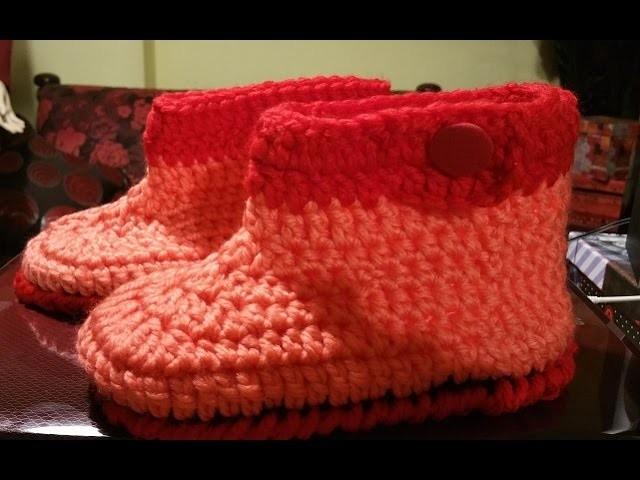 Tutorial babbucce all'uncinetto - zapatillas en crochet - crochet slippers