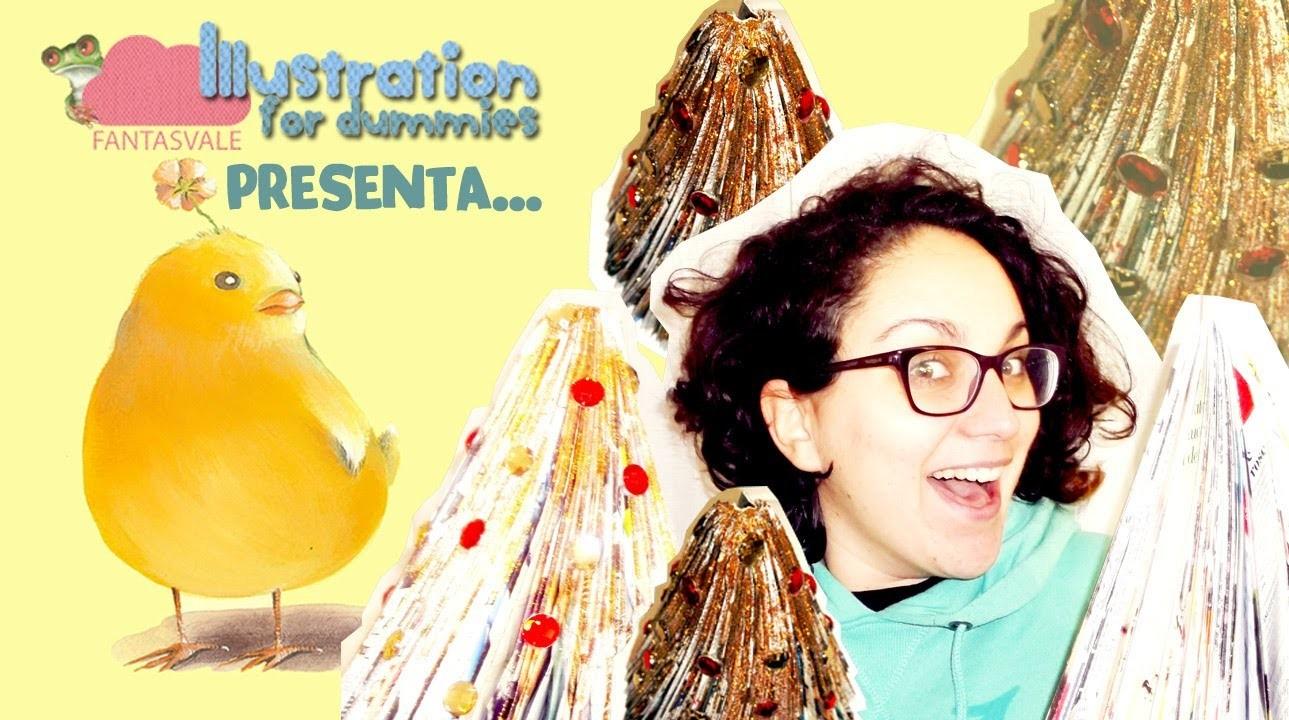 Alberello di Natale con riviste: emergenza colla spray!