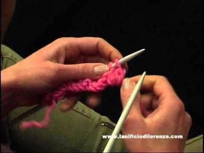 Lavori a maglia: punto nocciolina