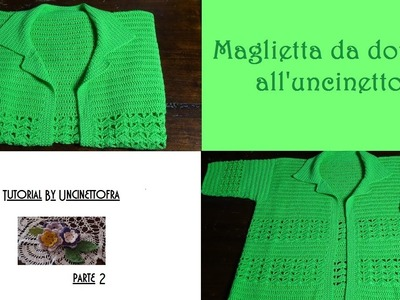 Maglietta da donna all'uncinetto tutorial (parte 2)