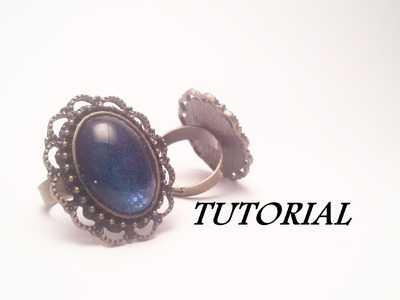 TUTORIAL anello in stile VINTAGE con smalti | Vintage ring TUTORIAL with nail polish