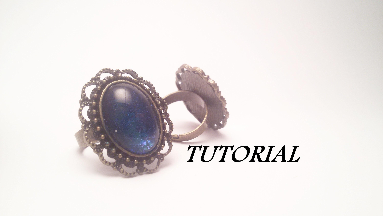 TUTORIAL anello in stile VINTAGE con smalti | Vintage ring TUTORIAL with nail polish