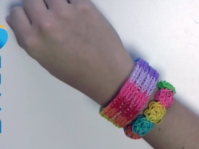 Tutorial braccialetti elastici fishtail con Rainbow loom