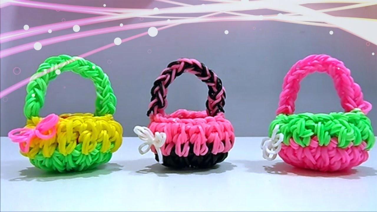 "Tutorial Cestino Pasquale 3D con Elastici Rainbow Loom (Senza Telaio) ""Easter Basket 3D ""hook only"