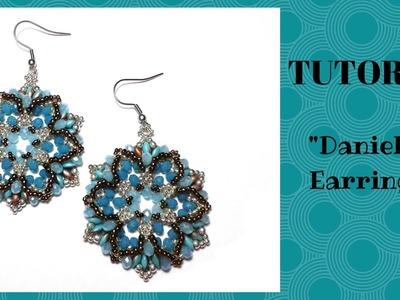 """Tutorial perline: orecchini """"Daniela""""   Tutorial beading: """"Daniela"""" earrings"""
