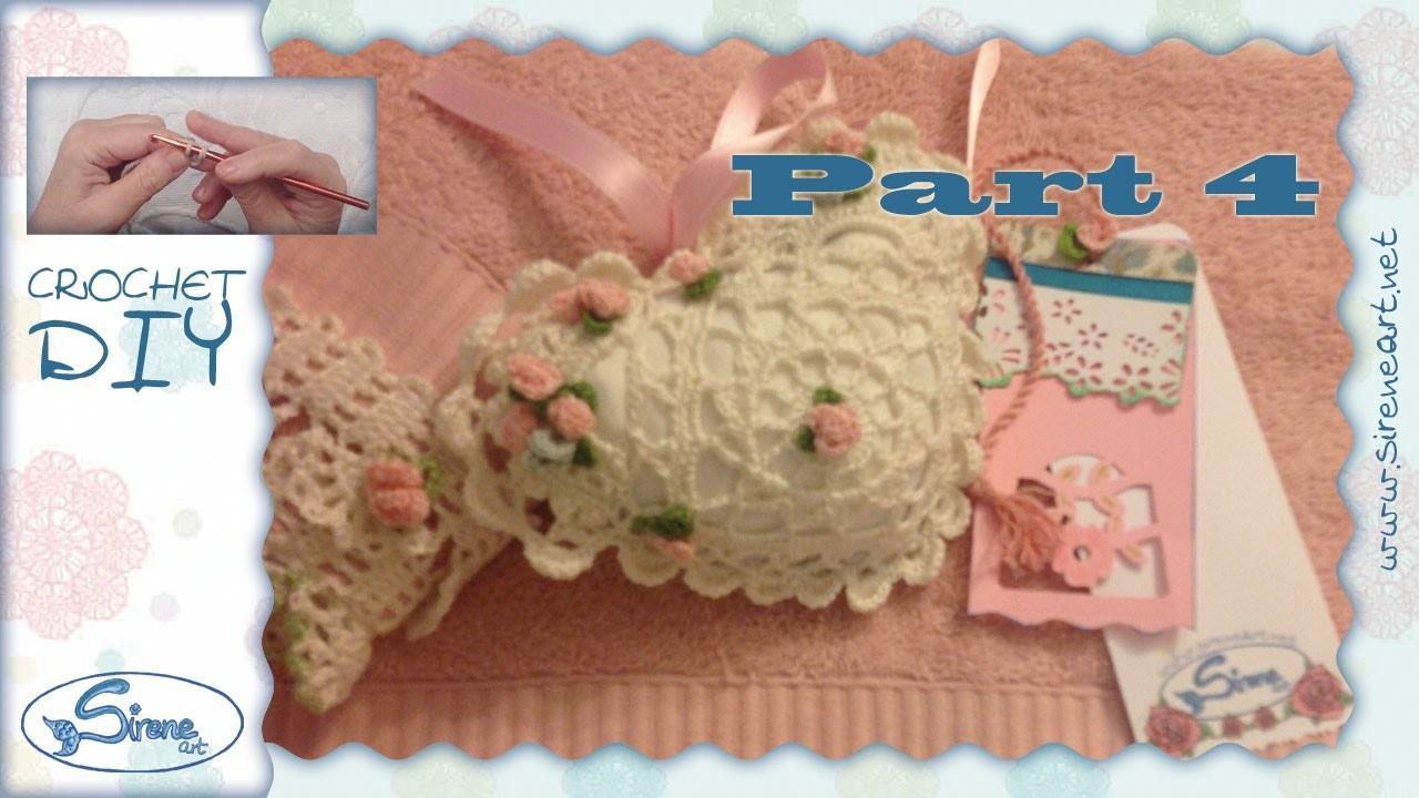 Tutorial Uncinetto ❀ Cuoricino portaprofumo p.4 ❀ [crochet heart, scent holder]