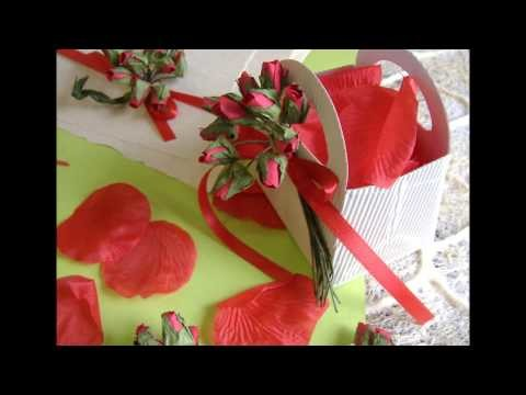 Bomboniere rose rosse matrimonio & eventi, rote Rosen Hochzeitsgastgeschenke