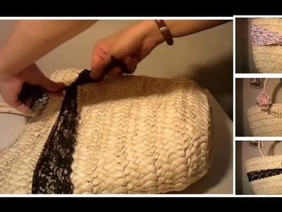 DIY Come personalizzare una borsa di paglia