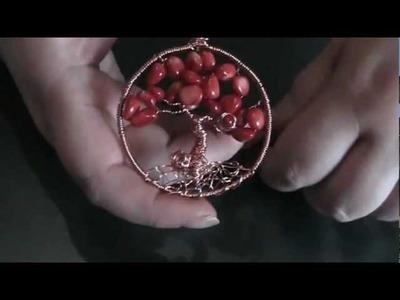 Piccola creazione in  scapbooking e albero della vita (tree of life)  in  wire