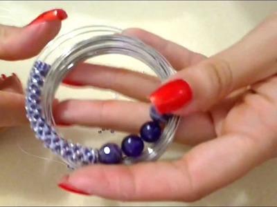 Confronto spirali -tutorial spirale chenille-russa-Herringbone Gioielli fai da te