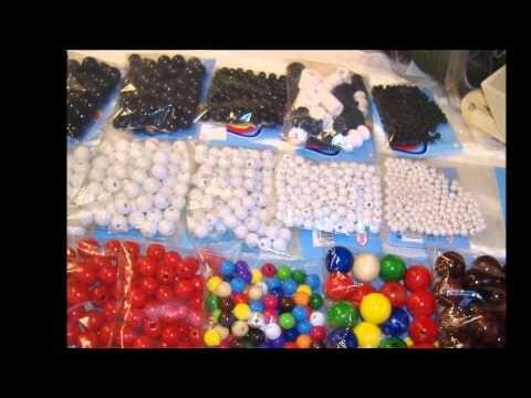 Perline di legno: giochi di cordoncini per bigiotteria con cordini