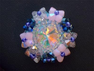 Sarubbest - Tutorial perline Swarovski: come incastonare un cabochon con cristalli bicono 2.2