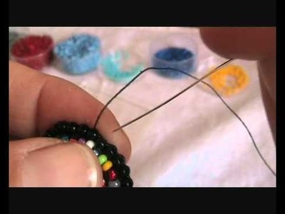 Tutorial embroidery-anello con bottone  parte 2