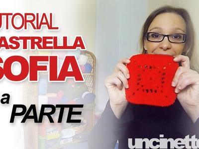 """Tutorial uncinetto - Piastrella """"Sofia""""- Parte 1 di 3"""