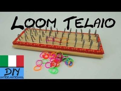 Come costruire il telaio per braccialetti Loom - loom board - rainbow loom board - loom bands board