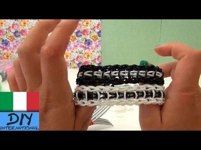 Come realizzare bracciale loom a scala con forchetta