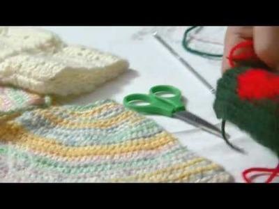 Jeux de dames, uncinetto: mezza maglia alta; maglia alta, doppia e tripla. Voltate
