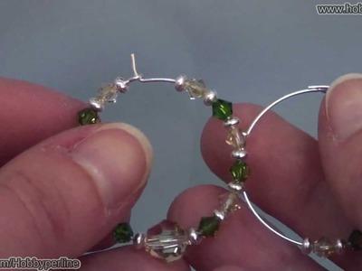 Orecchini a cerchio | Perline per Principianti - HobbyPerline.com