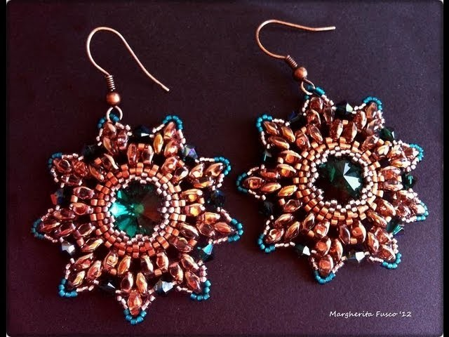 Orecchini, ciondolo, bracciale con perline e cristalli swarovski - regali! Grazie Luigia!
