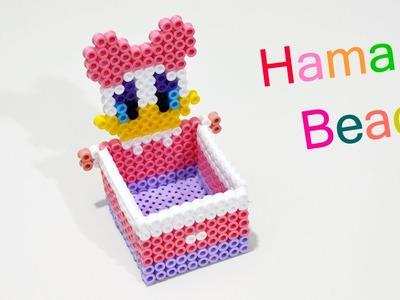 Porta Oggetti Paperina con Hama Beads. Perler Beads box jewelry
