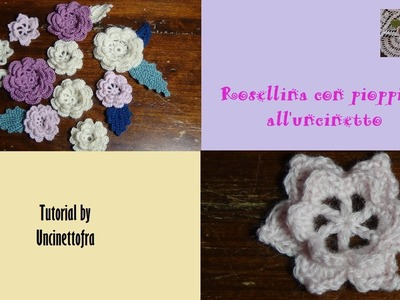 Rosellina con pioppiolini all'uncinetto tutorial