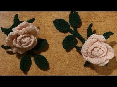 Tutorial rosa all'uncinetto a dieci petali