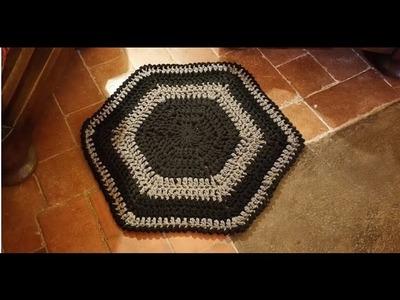 Tutorial tappeto all'uncinetto facilissimo - alfombra crochet - crochet rug