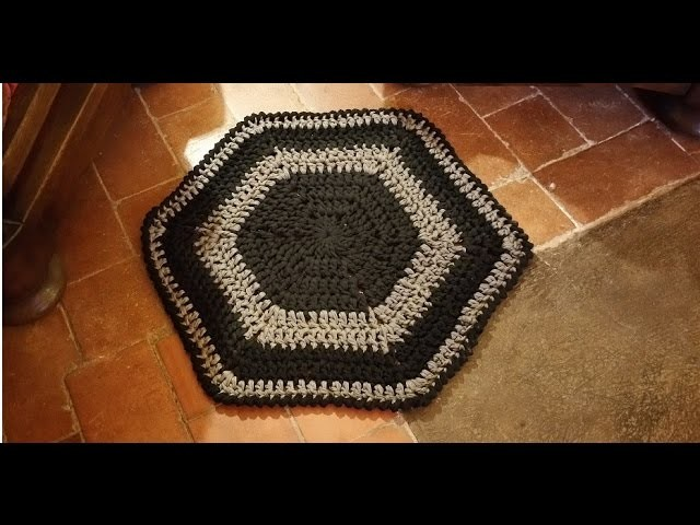 Tutorial tappeto all'uncinetto facilissimo - alfombra crochet - crochet rug