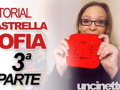 """Tutorial uncinetto -  Piastrella """"Sofia""""- Parte 3 di 3"""