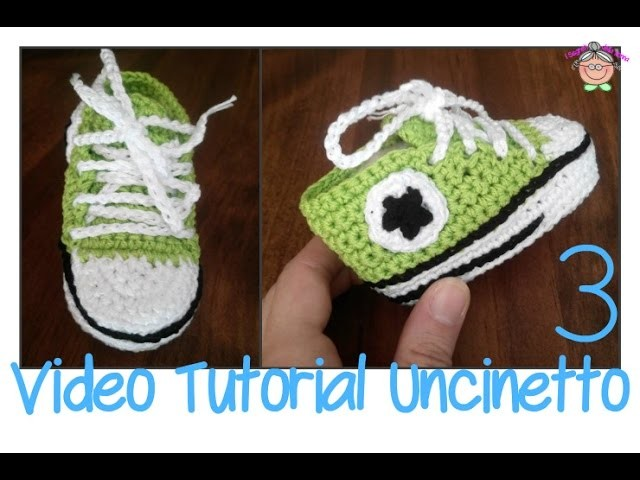 Tutorial Uncinetto: scarpine ALL STAR CONVERSE [ultimo video]