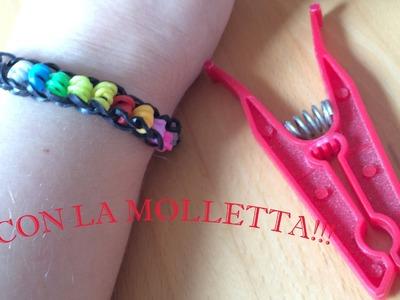 Bracciale con Rotolini Colorati- Spiegazioni con Molletta senza telaio