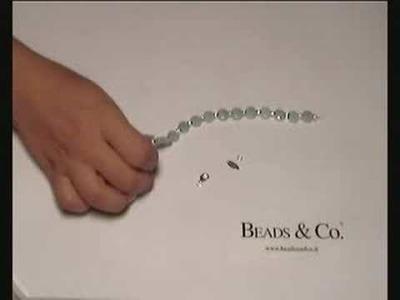 Creare bracciale con pietre amazonite - lezione 8 - Beads&Co
