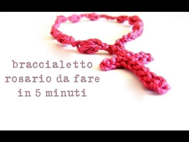 Crochet: come fare braccialetti rosario in 5 minuti