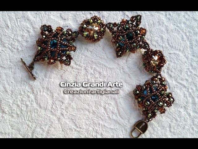 """DIY - Bracciale """"Vintage"""" modulo per bracciali orecchini o collane"""