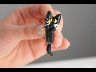 Fimo Tutorial: come realizzare orecchini a forma di gatto
